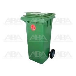Contenedor plástico rodante CYTIBAC120 verde
