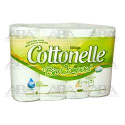 Higiénico Tradicional Kleenex® Cottonelle® Bio Compact 408 hjs 8´s x 6 90546