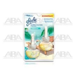 Glade® Aceites Naturales Repuesto 2 pack Paraíso Azul
