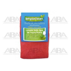 Toalla de microfibra roja Limpiaclean®