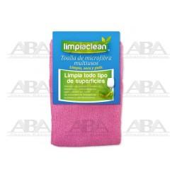 Toalla de microfibra rosa Limpiaclean®