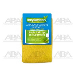 Toalla de microfibra amarilla Limpiaclean®