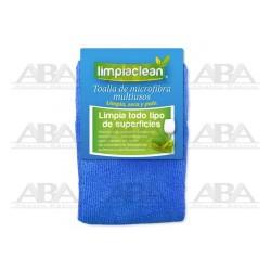 Toalla de microfibra azul Limpiaclean®
