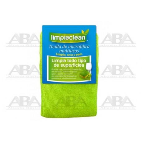 Toalla de microfibra verde Limpiaclean®