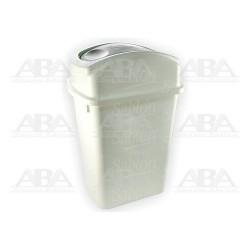 Cesto 65 (blanco) tapa balancín lateral gris 8124GR