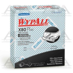 Paño Food Service X80 Plus Wypall® Azul 01405