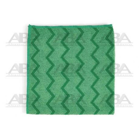 Paños de microfibra verde Rubbermaid HYGEN® FGQ62000 Los paños HYGENTM tienen talladores que remueven polvo al sacudir, y absor