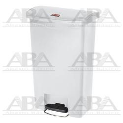 Contenedor de plástico Slim Jim® Step-On1883557 WHITE