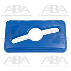 Tapa Slim Jim® para reciclaje mixto azul 1788372