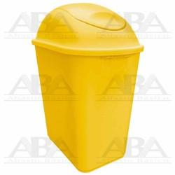 Cesto Jumbo 26L amarillo con tapa balancín 8853AM