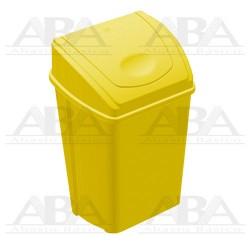 Cesto 42L amarillo con tapa balancín frontal 8763AM