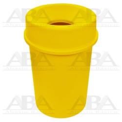 Bote redondo 45L amarillo con tapa embudo 8383AM