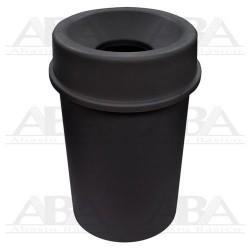 Bote redondo 45L negro con tapa embudo 8385NE