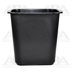 Cesto rectangular 13L negro sin tapa 8015NE