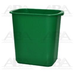 Cesto rectangular 13L verde sin tapa 8016VD
