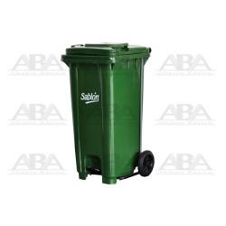 Cesto 120 L con pedal verde / verde 8356VD