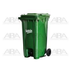 Cesto 240 L con pedal verde / verde 8356VD