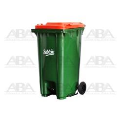Cesto 240 L con pedal verde / naranja 8358NA