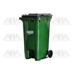 Cesto 240 L con pedal verde / gris 8354GR