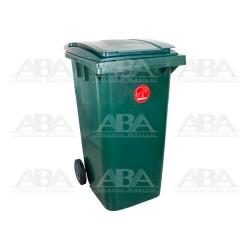 Contenedor de plástico rodante CITYBAC240 verde