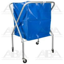 Carro colector de tijera para basura con ruedas. Bolsa incluida