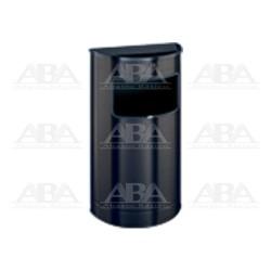 Basurero Media Luna negro con cenicero BG88201
