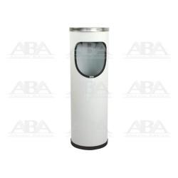 Basurero Circular con cenicero blanco BI70200