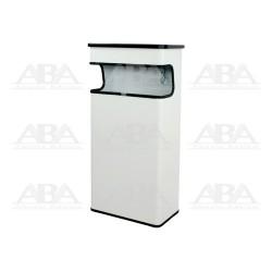 Basurero rectangular con cenicero BI70400