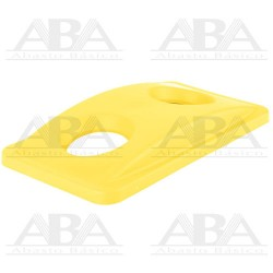 Tapa Amarilla Slim Jim® para reciclaje de botellas para contenedores Slim Jim® FG269288 YEL