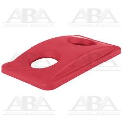 Tapa roja Slim Jim® para reciclaje de botellas para contenedores Slim Jim® FG269288 RED
