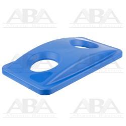 Tapa azul Slim Jim® para reciclaje de botellas para contenedores Slim Jim® FG269288 BLUE