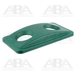 Tapa verde Slim Jim® para reciclaje de botellas para contenedores Slim Jim® FG269288 GRN