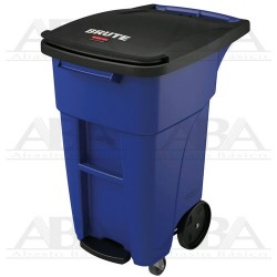 Contenedor BRUTE® Step-On Rollout con tapa 121L 1971952 BLUE