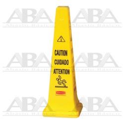 """Conos de seguridad c/advertencia """"Cuidado"""" Multilingual FG627600 YEL"""