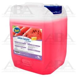 Jabón en Espuma para manos Sandía 5L Tipps Line®