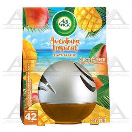 Air Wick Decosphere Aromatizante de Ambiente Playa Paraíso, 75 ml
