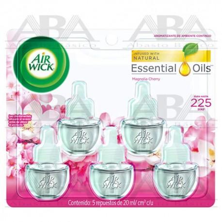 Air Wick Repuesto para Aromatizante Eléctrico Magnolia Cherry, 20ml
