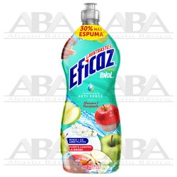 Detergente líquido lavatrastes Manzana Energizante 750 ml Eficaz®