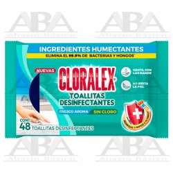 Cloralex Toallitas Desinfectantes 48 piezas