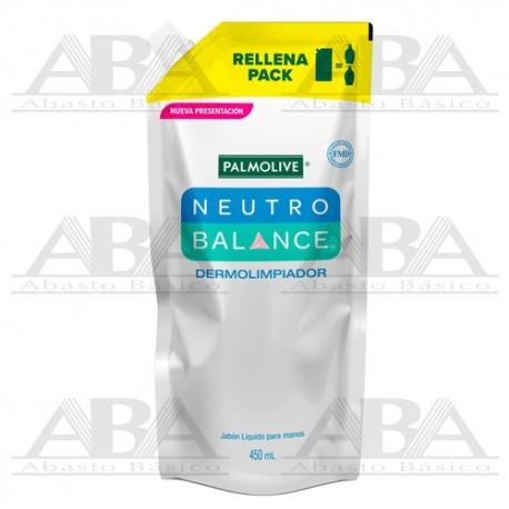 Jabón Líquido para Manos Palmolive Neutro Balance Dermolimpiador rellena-pack de 450ml