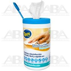 Toallas Húmedas Limpieza y Desinfección Tipps Line®