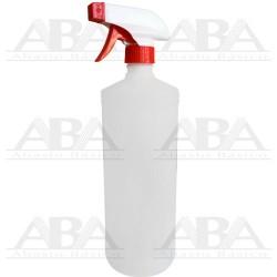 Pistola atomizador estándar rojo con botella cilíndrica 1000 ml.