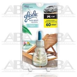 Glade® Auto Sport Repuesto Paraíso Azul