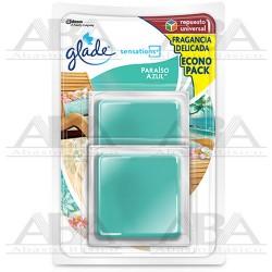 Glade® Sensations Repuesto 2 pack Paraíso Azul™