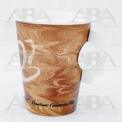 Vaso de papel para bebidas calientes con asa 378HS 8oz/237 ml Mistique®