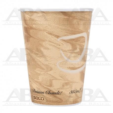 Vaso de papel para bebidas calientes 412MSN 12oz / 355 ml