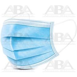 Cubre bocas plizado tricapa azul caja 50 pzas