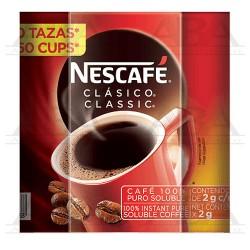 Nescafé clásico café soluble 50 sobres