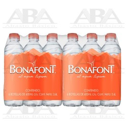 Bonafont Agua Natural 24 x 600 ml