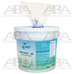 Pulcro® Saniwipe Toallas Sanitizantes Cubeta 400
